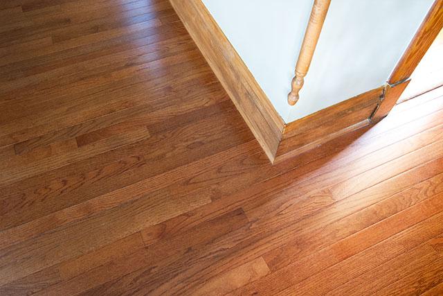 Bruce Hardwood Flooring in Gunstock Oak, from Floor & Decor