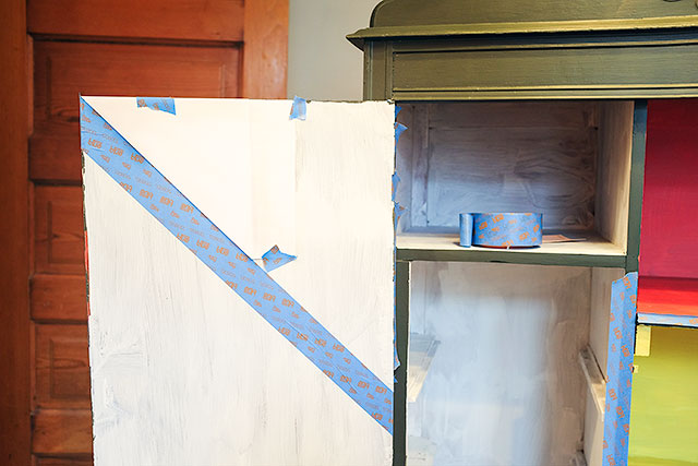 Taping Off the Stripes with ScotchBlue Painter's Tape