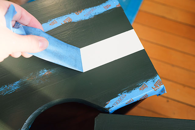 Removing the ScotchBlue Painter's Tape