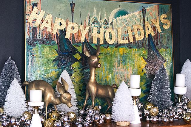 Christmas Fireplace Decorating #Target #MakingitLovely