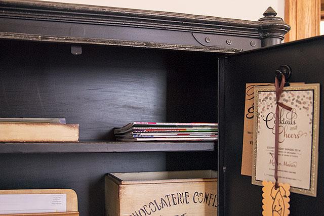 Inside the Secretary Desk   Making it Lovely