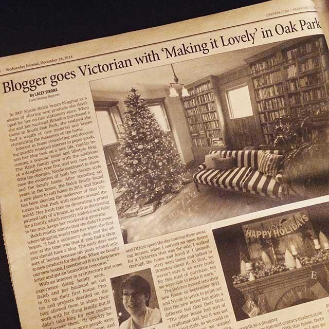Making it Lovely in the Oak Park Wednesday Journal