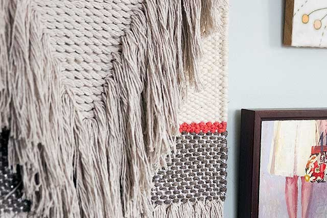 Nate Berkus Fringed Wall Hanging | Making it Lovely