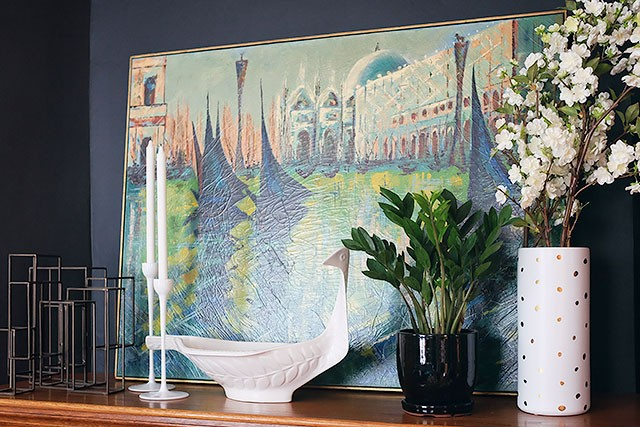 Vintage Painting of Venice