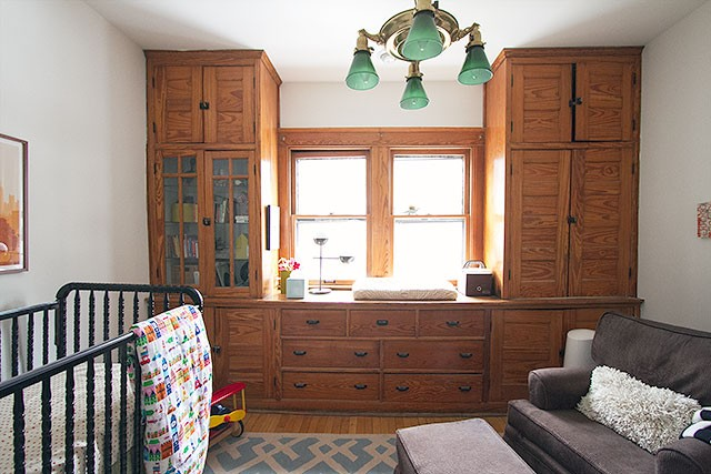 Calvin's Nursery with Wood Built-ins  Making it Lovely