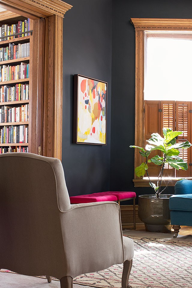 Black Walls, Fiddle Leaf Fig | Making it Lovely
