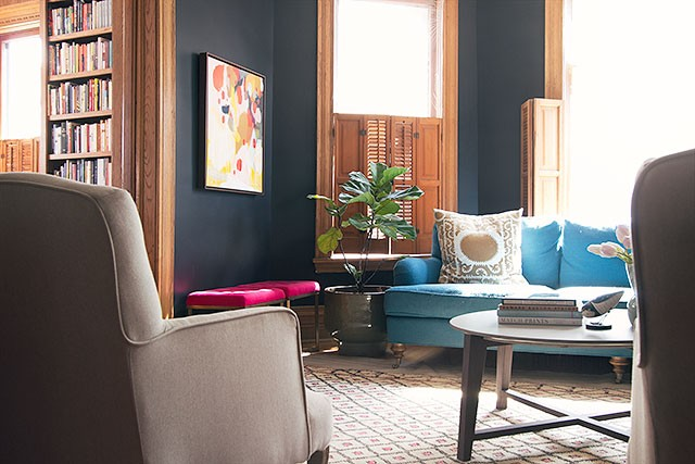 Black Walls, Cream and Pink Moroccan Rug   Making it Lovely