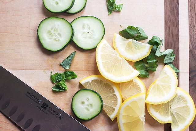 Cucumber, Basil, and Lemon