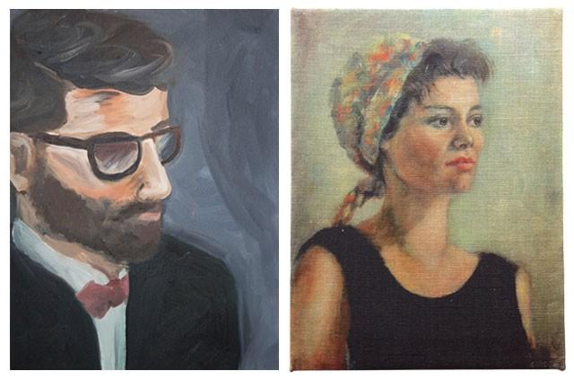 Bathroom Art: Portraits