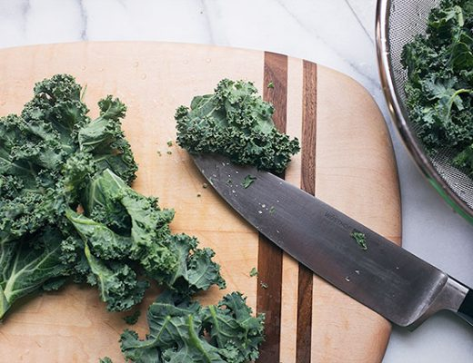 Chopping Kale