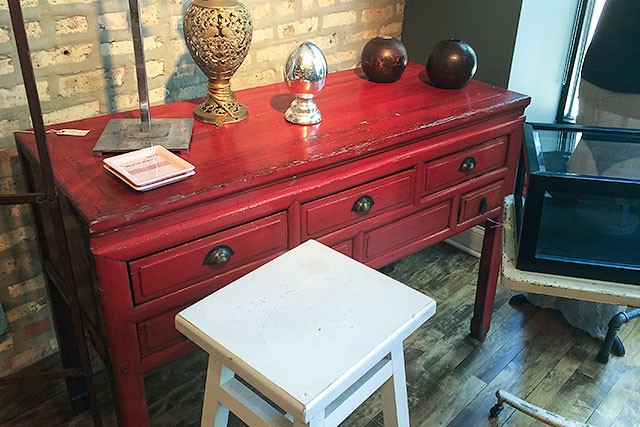 Red Console with Drawers