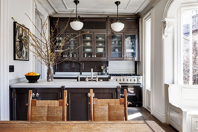 One famous brownstone two kitchens making it lovely for Deborah s kitchen