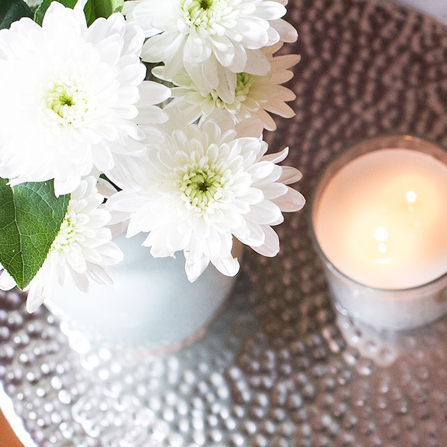 Flowers and Candle