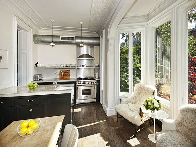 One Famous Brownstone Two Kitchens Making It Lovely