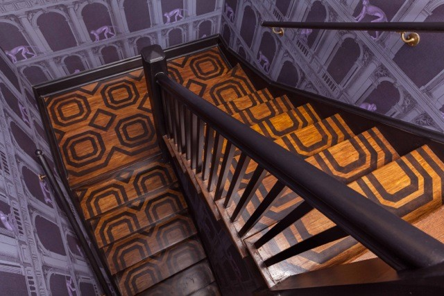 Back Stairs, Sarah Whit Interior Design Copyright © 2015 Janet Mesic Mackie
