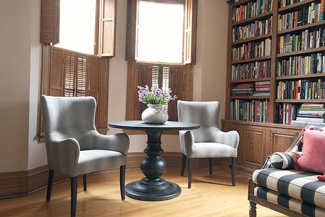 Captivating Pair Of Deeda Chairs In Making It Lovelyu0027s Home Library