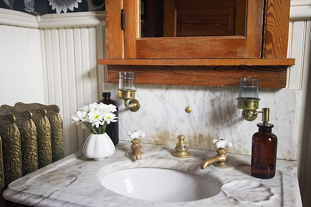 Bathroom with Antique Marble Sink