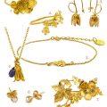 Alex Monroe Gold Floral Jewelry