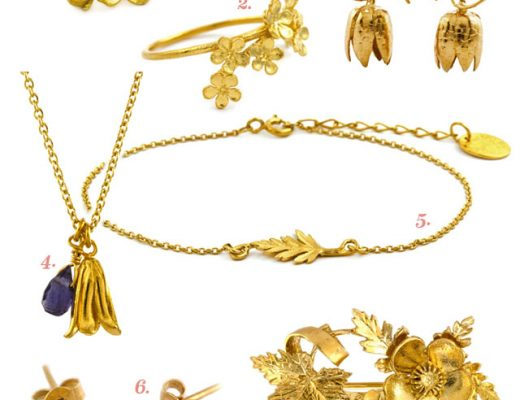 Alex Monroe Gold Floral Jewelry