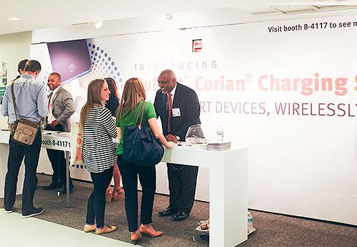 Wireless Charging at NeoCon 2015 in Chicago with #CorianPowerUp