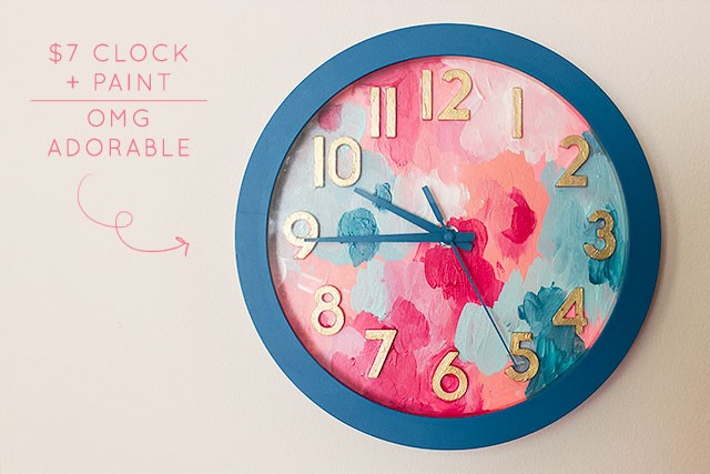 Adorable DIY Painted Clock | Making it Lovely