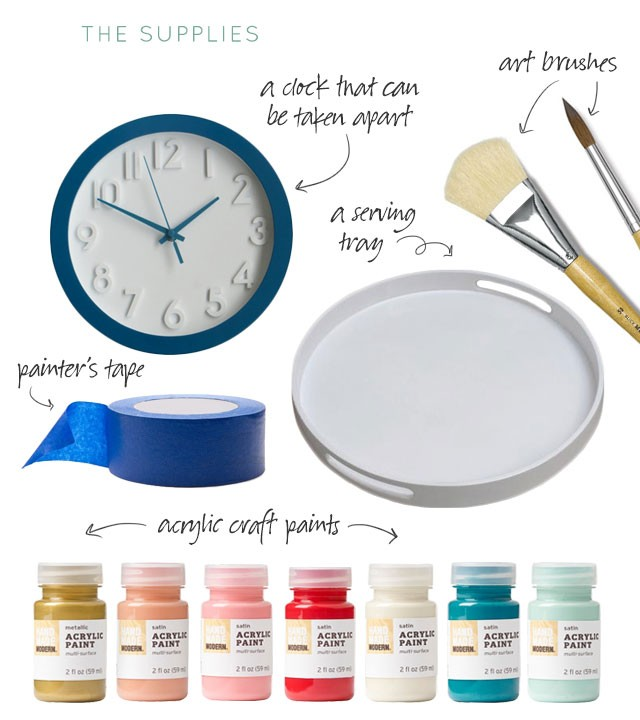 DIY Abstract Art Clock & Tray| Coffee-Mate & Making it Lovely #InspiredStart