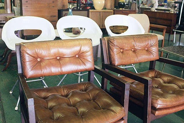 Vintage Chairs at the Kane County Flea Market
