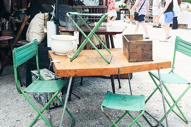 Camp Furniture at the Kane County Flea Market