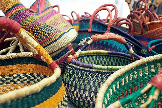 Baskets at the Kane County Flea Market