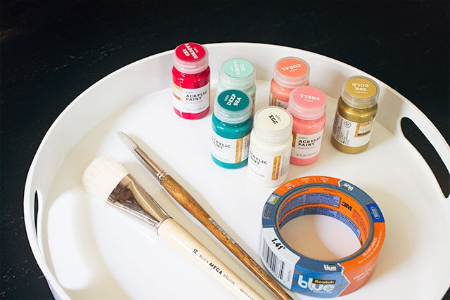 Serving Tray and Craft Supplies