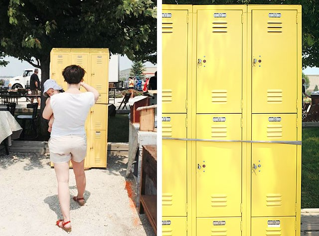 Vintage Lockers at the Kane County Flea Market