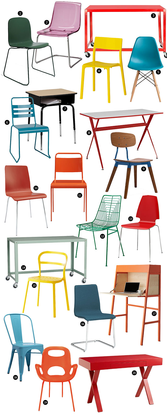 20 Colorful Kids' Desks and Chairs | Making it Lovely