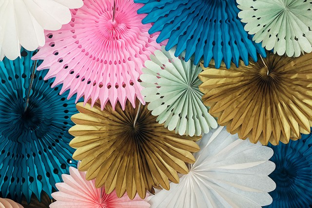 Bridal Shower Paper Fans Decorations