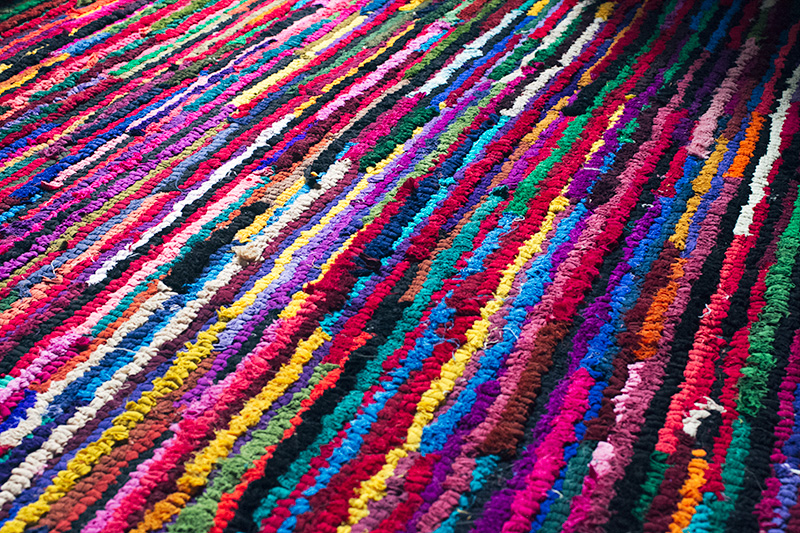 Little Loops Sticking Out in a Rag Rug