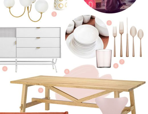 Making it Yours 13B: IKEA Mockelby Dining Table (Pink and Gold)
