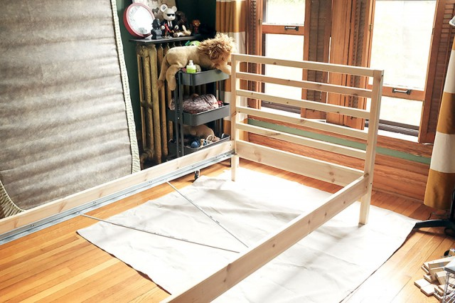 IKEA Wooden Bed