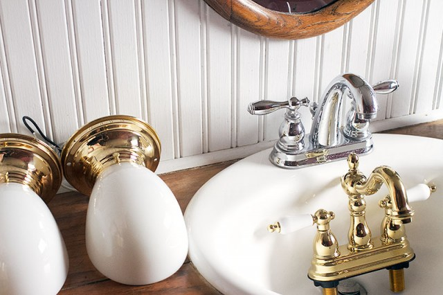 New Brass Bathroom Fixtures