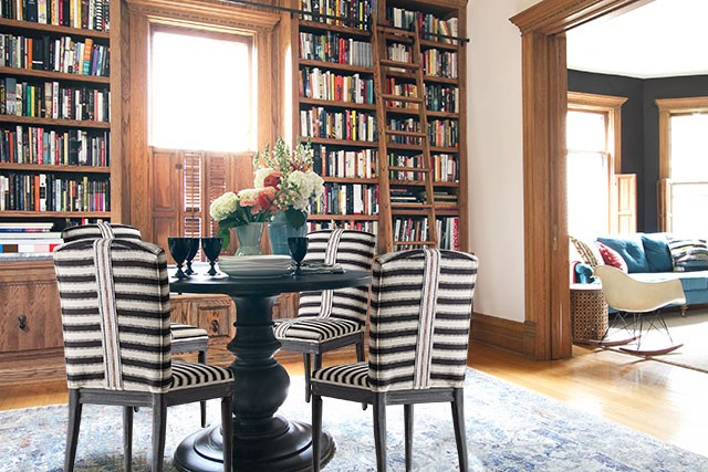 Anthropologie Grassland Striped Dining Chairs