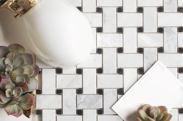 Marble Basketweave Tile Design Board