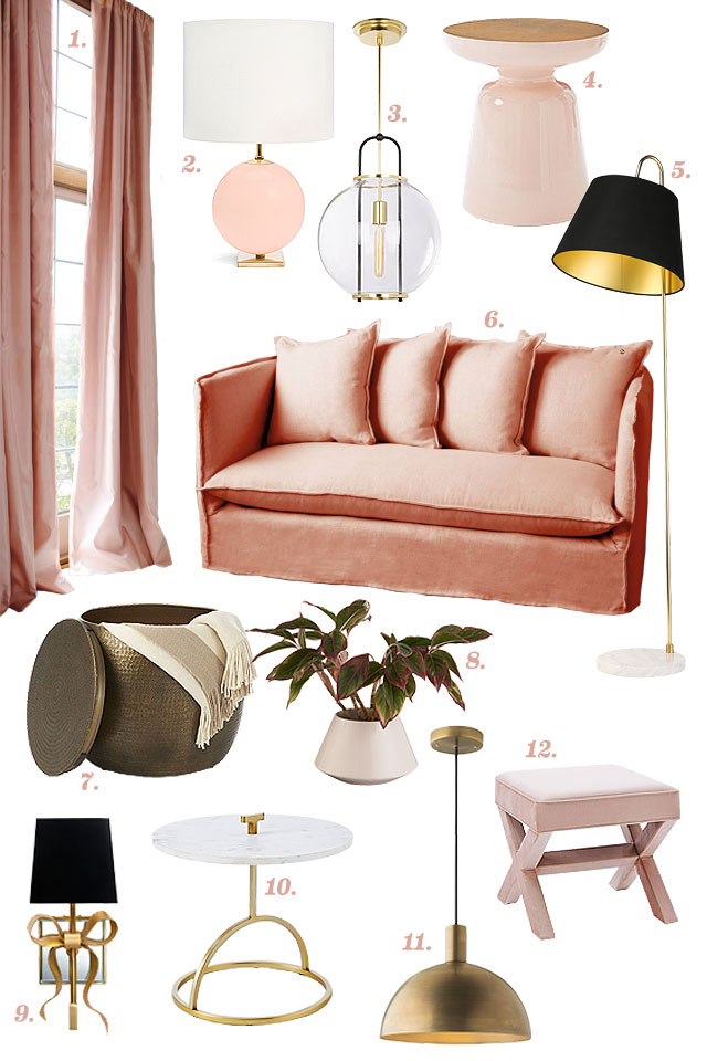 Pink, Brass, Marble, Repeat.