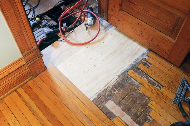 New Subfloor in the Bedroom and Closet