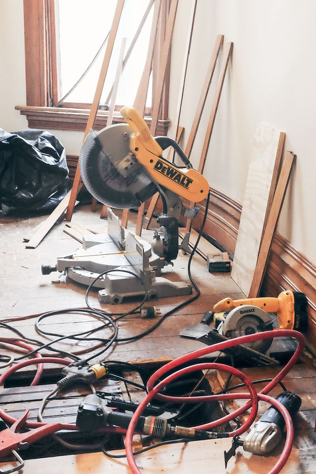 Tools to Fix the Closet Subfloor