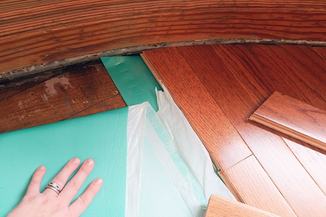 Laying New Wood Flooring and Premium Underlayment