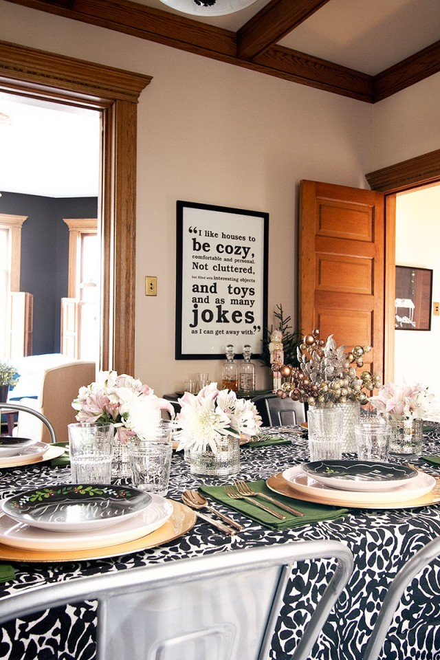 Dining Room Table, Set for Holiday Dinner | Making it Lovely