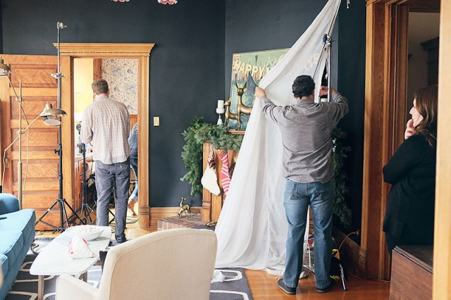 Behind the Scenes at a Photo Shoot for HGTV Magazine