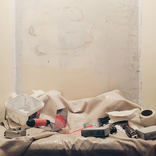 Plaster Wall Repair in Progress