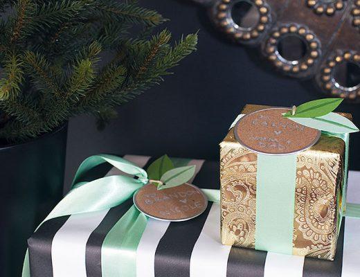 DIY Laurel Leaf Gift Tags (Pretty Packages)
