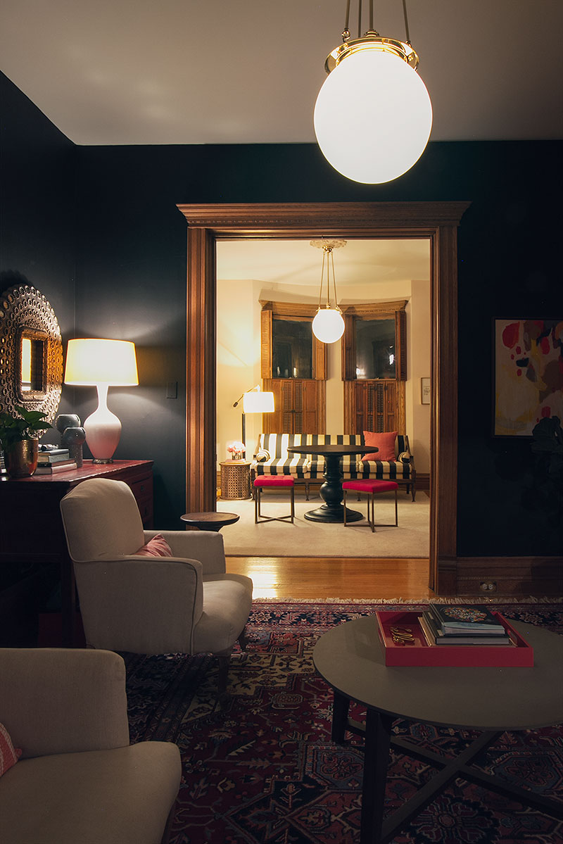 The Double Parlor at Night