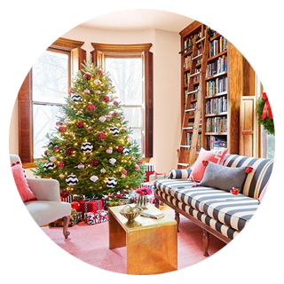 Making it Lovely's Home Featured in the Christmas issue of HGTV Magazine
