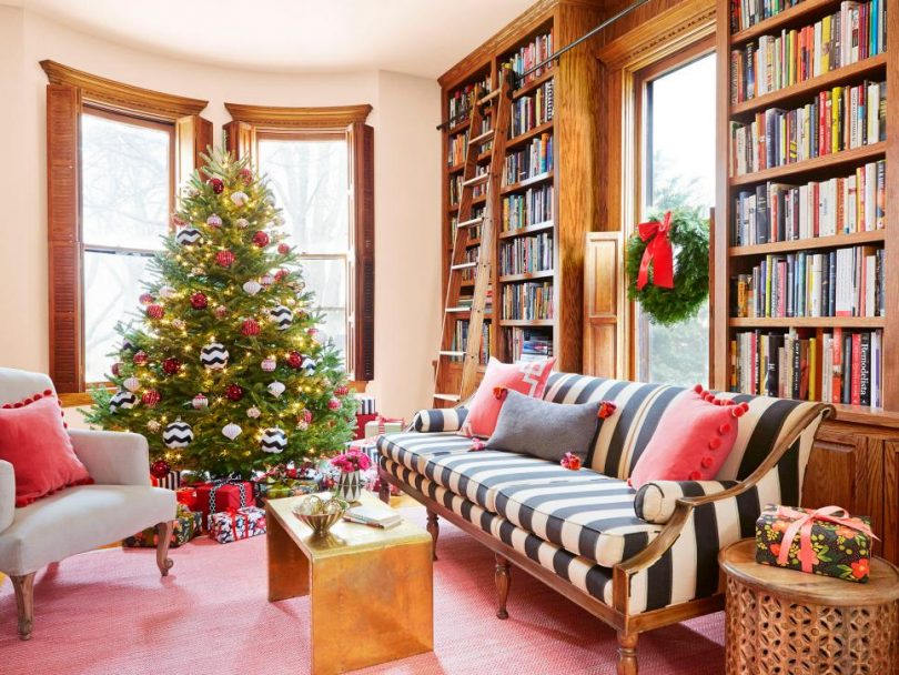 Making it Lovely's Home Library in HGTV Magazine's Christmas 2015 Issue